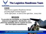 the logistics readiness team