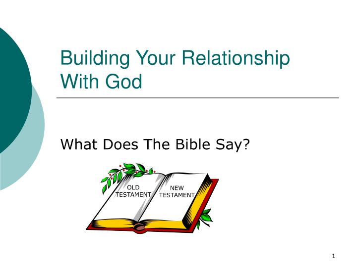 building your relationship with god n.