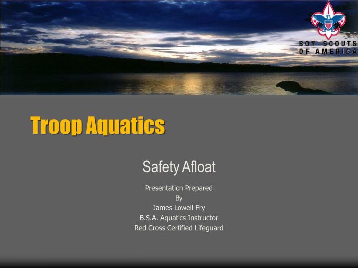 troop aquatics n.
