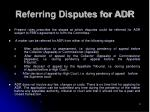 referring disputes for adr
