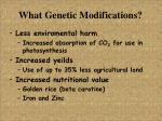 what genetic modifications