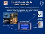 mobitel case study ssm platform