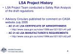 lsa project history1
