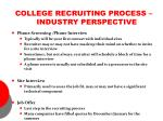 college recruiting process industry perspective9