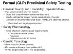 formal glp preclinical safety testing