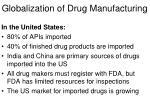 globalization of drug manufacturing