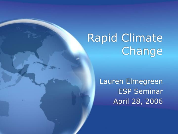 rapid climate change n.