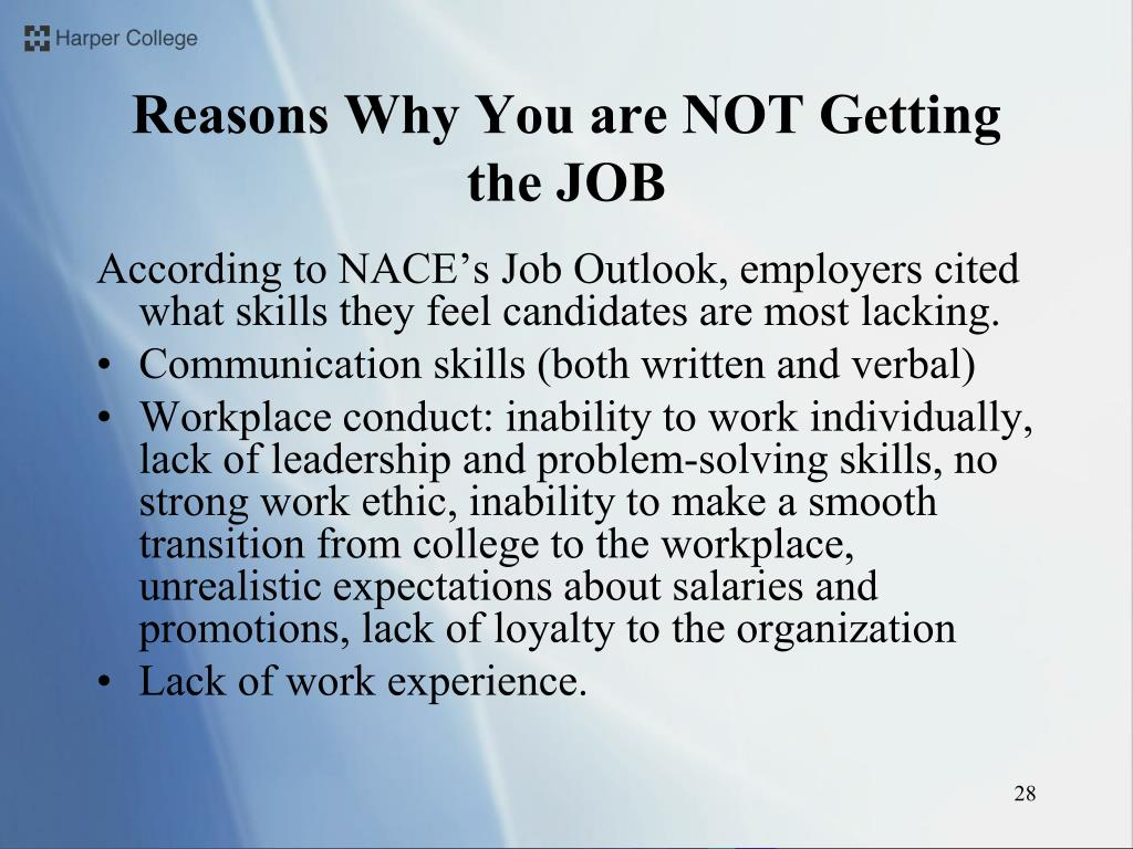Reasons Why You are NOT Getting the JOB