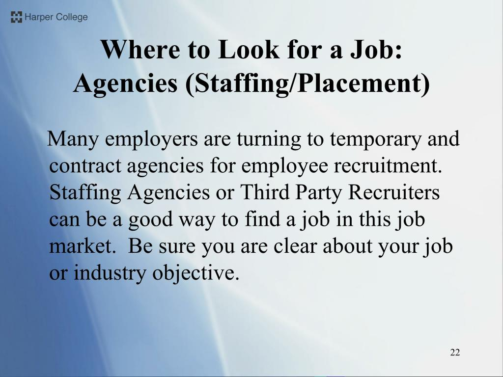 Where to Look for a Job: