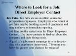 where to look for a job direct employer contact