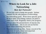 where to look for a job networking12