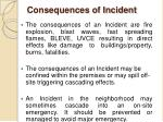 consequences of incident