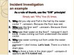 incident investigation an example