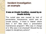 incident investigation an example1