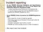incident reporting