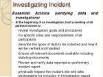 investigating incident1
