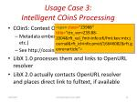 usage case 3 intelligent coins processing