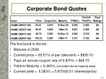 corporate bond quotes