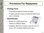 provisions for repayment1