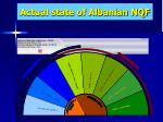 actual state of albanian nqf