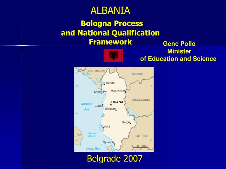 albania bologna process and national qualification framework n.