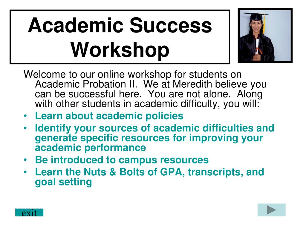 academic success workshop l.