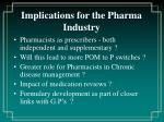 implications for the pharma industry