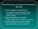 new pharmacy contractual framework benefits1