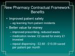 new pharmacy contractual framework benefits2