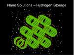 nano solutions hydrogen storage