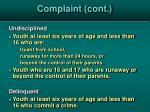 complaint cont