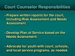 court counselor responsibilities