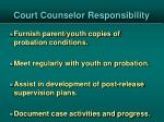 court counselor responsibility