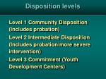disposition levels