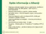 op te informacije o albaniji