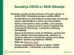 saradnja osce a i moe albanije