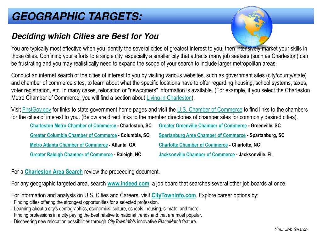 GEOGRAPHIC TARGETS:
