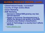 global product issues contd