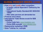 global product issues contd1