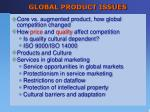 global product issues