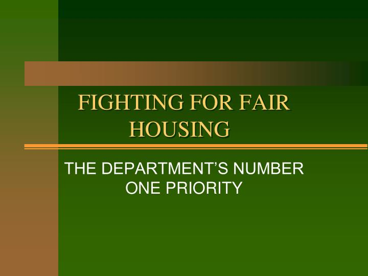 fighting for fair housing n.