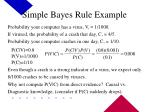 simple bayes rule example
