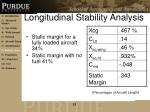 longitudinal stability analysis
