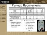 payload requirements