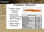 propeller selection