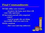 final commandments