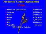 frederick county agriculture crops