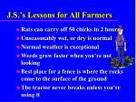 j s s lessons for all farmers