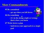 more commandments