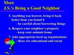 more j s s being a good neighbor